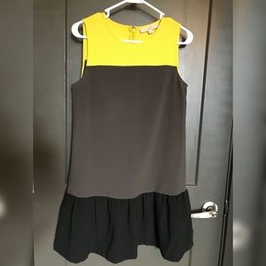 Ann Taylor Loft Color Block Ruffle Dress Size 4